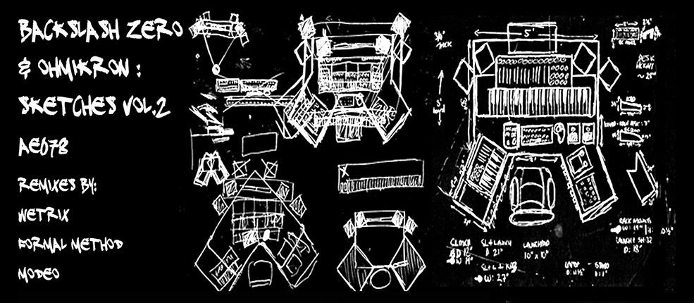 (AE078)Backslash Zero & OhmikRon – Sketches vol. 2.